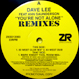 Dave Lee - You're Not Alone (Remixed 83 West)