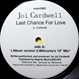Joi Cardwell - Last Chance For Love